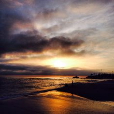 Sunset over Aliso Creek State Beach