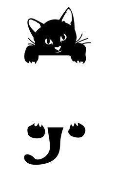 Resultado de imagem para cat deco silhouette cat