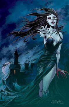 30 Ideas For Fantasy Art Vampire Artists Dark Fantasy Art, Fantasy Kunst, Fantasy Artwork, Dark Art, Vampire Love, Female Vampire, Vampire Girls, Vampire Art, Gothic Vampire