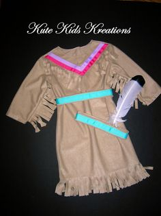 Girl's Native American Indian Costume Sizes 2 by kutekidskreations