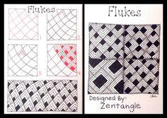Zentangle : Tangle Pattern : Flukes | Flickr - Photo Sharing! - Official Zentangle Pattern