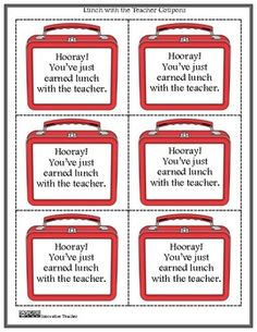 Reward Coupons {Reward System or Classroom Management}