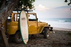 Sun, Surf, and Sand For This Mustard Yellow Toyota Land Cruiser - Today Pin Toyota Surf, Toyota Fj40, Toyota Trucks, Ford Trucks, Toyota Land Cruiser, Fj Cruiser, Volkswagen, Vw T1, Motorcycle Camping