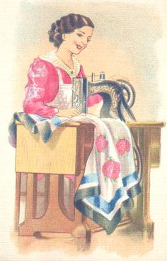 vintage sewing machine and quilit