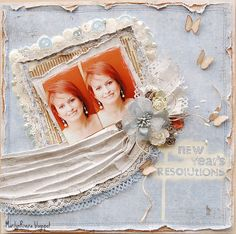 I made this page inspired in the January Mood Board by Maja Design. I used Vintage Summer Basics 1899, 1914 &1916 papers.