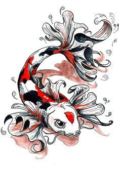 Koi Fish Tattoo Designs for Men Japanese Koi Fish Tattoo, Koi Fish Drawing, Fish Drawings, Animal Drawings, Drawing Animals, Japanese Forearm Tattoo, Koi Tattoo Design, Koi Art, Fish Art