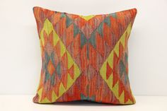 Anatolian kilim pillow cover Decorative pillow by historicdesign