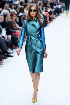 Burberry - London Fashion Week 2013 - Blue