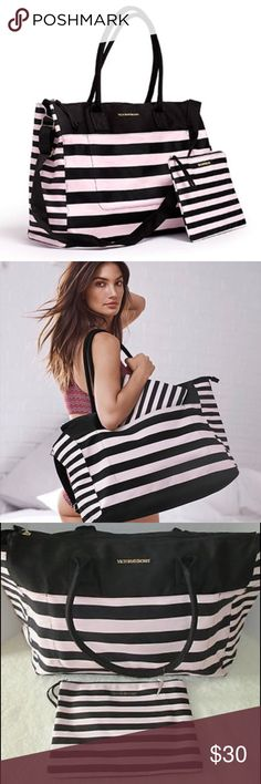 "NWT • Victoria Secret • 2016 • Weekender Tote NWT 2016 LIMITED EDITION Victoria's Secret Weekender Tote bag with matching travel pouch.  Approx. measurement: 19.5"" L x 7.5"" W x 14"" H.     Price is firm unless bundled. Victoria's Secret Bags Travel Bags"