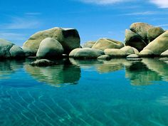 """Commonly referred to as """"Tahoe"""", or just """"The Lake"""" by locals, beautiful blue Lake Tahoe is located between the great states of California and Nevada in the United States of America. Description from beauty-places.com. I searched for this on bing.com/images"""