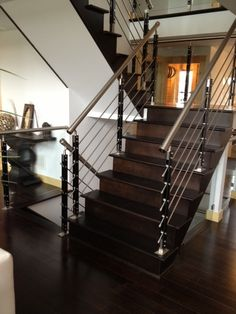 We love these stairs in this Timber Block home! www.timberblock.com