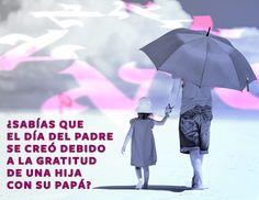#SabiasQue el #DiaDelPadre se creó debido a la gratitud de una hija con su papá.