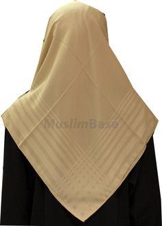 Blue Square Sandy Brown Stripes Hijab http://www.muslimbase.com/clothing/hijabs/square-hijab/blue-square-sandy-brown-stripes-hijab-p-3489.html