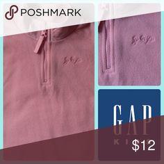 "Pink Gap Quarter Zip Fleece Super soft Gap Kids Fleece top with quarter length zipper. Stand collar is ""satin feel"" poly. Excellent Condition. GAP Jackets & Coats"