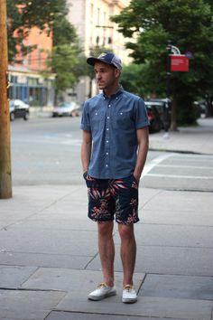 Shorts Inspiration Mega-album for Spring/Summer : malefashionadvice Summer Outfits Men, Fall Fashion Outfits, Fashion Shorts, Fashion Hub, Mens Fashion, Tropical Outfit, Moda Blog, Dressing, Vans