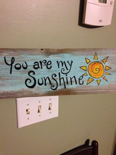 Wooden You Are My Sunshine Blue by abmdam on Etsy
