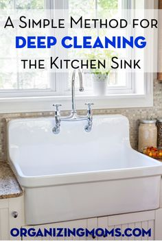 A Simple Method for Cleaning Your Kitchen Sink. Make your kitchen sparkle!