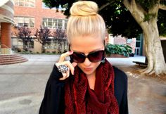 okay. I'm slowly joining the high bun revolution. This is chic