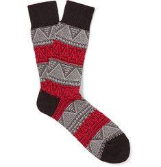 Anonymous IsmJacquard-Knit Socks