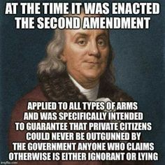 Know The Facts - The Amendment keeps the rest of the Constitution in place Political Quotes, Political Views, Political Topics, Great Quotes, Inspirational Quotes, Motivational, Awesome Quotes, Gun Rights, Conservative Politics