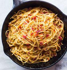 Bacon Spaghetti Aglio Olio   14 Homemade Spaghetti Recipes For Your Pasta Cravings