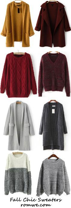 Fall Fashion - Cozy and Pretty Sweaters from romwe.com