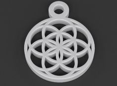 Seed Of Life Pendant by luxxeon - Seed of Life represents the seven stages, steps, or days of creation.  Often seen in decorative art all over the world, in ancient times, and many iconic religious occurrences. #3d #printing #pendant #sacred #geometry #seedoflife #treeoflife #overlapping circles #pattern #design #islamic #symbol #ancient