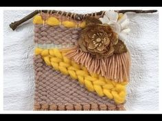 Prima DT project-July PPP challenge Fiber arts woven wall hanging - YouTube