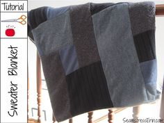 Sweaters Blanket Tutorial - walkthrough of how to sew a blanket from thrift-store sweaters.