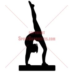 Gymnast Silhouette | -size GYMNASTIC SILHOUETTE wall stickers-Life-size SPORT SILHOUETTE ...