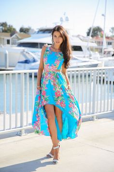 Fall In Love With This Stunning Floral Summer Dress and Sandals