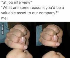 At job interview