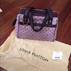 Authentic Louis Vuitton pink denim Handbag Great conditions 100% authentic with original label and tag. Beautiful cherry blossom pink denim with genuine leather trimming. One interior zipper and pocket for cell phone/accessories.  No stain no tear no smell. Comes with original dust bag. Store in smoke free pet free home. Let me know if u want more pics or have any questions. Please feel free to make reasonable offer. Louis Vuitton Bags Satchels