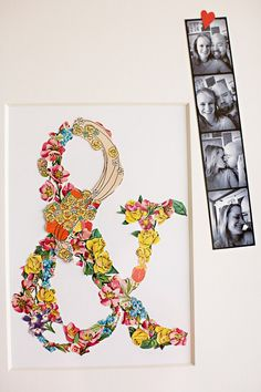 DIY Project: ephemera collage valentine tutorial --- collage in the shape of an ampersand or monograms or... (!)