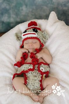 Sock Monkey Diaper Cover Set