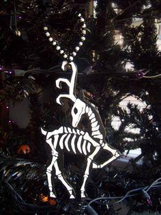 Skeleton Reindeer Ornament. $12.00, via Etsy.