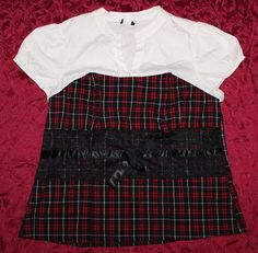 Torrid 3X Sexy Plaid Fitted Corset Top Blouse Shirt Punk Goth