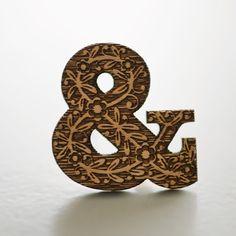 Carved ampersand