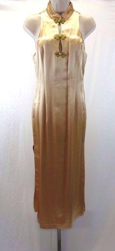 ALCHEMY Joo Mee New York Asian Style Peach Champagne Dress Size 8  #Alchemy
