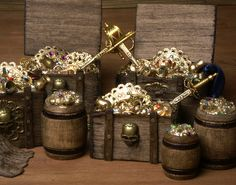 Charming Miniature Treasure Chests for Your Dollhouse by DinkyWorld on Etsy