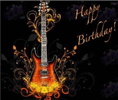 Best Birthday Quotes : QUOTATION – Image : As the quote says – Description Happy Birthday guitar birthday happy birthday birthday greeting birthday wishes animated birthday Birthday Greetings For Men, Birthday Images For Men, Happy Birthday Wishes For Him, Best Birthday Quotes, Happy Birthday Wishes Cards, Birthday Wishes And Images, Happy Birthday Pictures, Birthday Messages, Funny Birthday