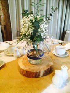 Table centres  Gypsophelia & Eucalyptus  What's not to love
