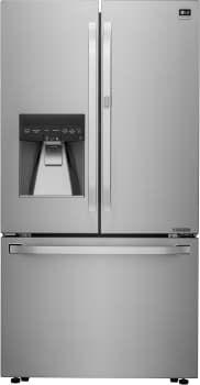 "$3200 -25 3/8 depth + 1"". LG LSFXC2476S: 15.6, Freezer: 7.9 cu ft.  36 Inch Counter Depth French Door Refrigerator with 23.5 cu. ft. Capacity, 4 Adjustable Glass Shelves, Door-in-Door, Gallon Storage, Glide N' Serve Drawer, Smart Cooling Plus, 3-Tier Freezer Drawer, Ice and Water Dispenser, ENERGY STAR and 2 Year Warranty"