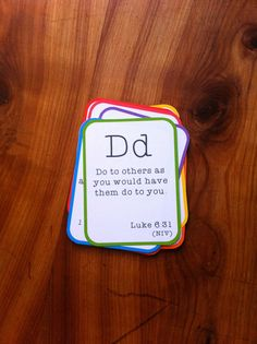 Alphabet Bible Verse Flashcard Set - Printable PDF