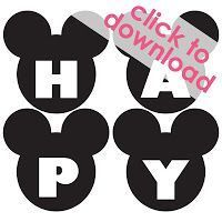 Free Mickey Mouse Happy Birthday Banner Printable and then but bows on them to make it Minnje Mickey Mouse Banner, Theme Mickey, Mickey Mouse Clubhouse Party, Mickey Mouse Clubhouse Birthday, Mickey Mouse Parties, Mickey Party, Mickey Mouse Birthday, Mickey Mouse Free Printables, Mickey Mouse Backdrop