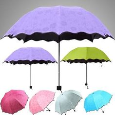 New Delicate Multi-function Umbrella Lady Princess Magic Flowers Dome Parasol Sun/Rain Folding Umbrella For Women #Affiliate