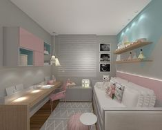 Kids Bedroom Designs, Home Room Design, Room Ideas Bedroom, Modern Bedroom Design, Kids Room Design, Bedroom Decor, Disney Bedrooms, Pink Bedrooms, Mansion Rooms
