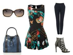 WAL G playsuit | OLLIE & NIC bag | DV BY DOLCE VITA sandals | MANGO sunglasses | THERAPY trousers