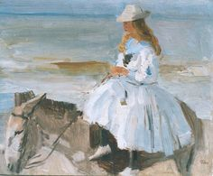 'Isaac' Lazarus Israels (Amsterdam 1865-1934 Den Haag) A donkey ride - Dutch Art Gallery Simonis and Buunk Ede, Netherlands.