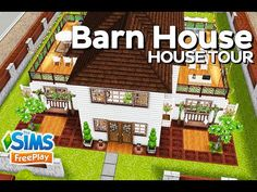 The Sims FreePlay - Barn House (Original design) - YouTube